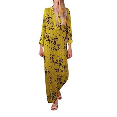 Proumy Vestidos&Faldas Damen Kleid, Comprar más Con descuento en Proumy, Gelb, Comprar más Con descuento en Proumy 5X-Large (Vestidos De Descuento)
