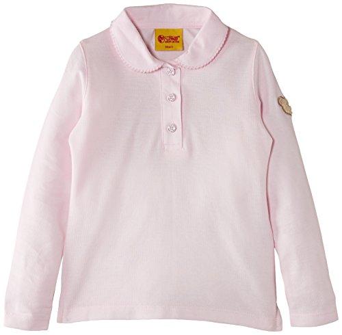 Steiff Baby - Mädchen Poloshirt 0006836 Polo Shirt 1/1 Sleeves,, Gr. 104 (Herstellergröße: 98),Rosa (Barely Pink)