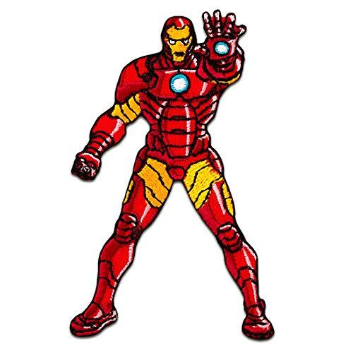 Aufnäher/Bügelbild - Avengers Iron Man Comic Kinder - rot - 6x9cm - Patch...