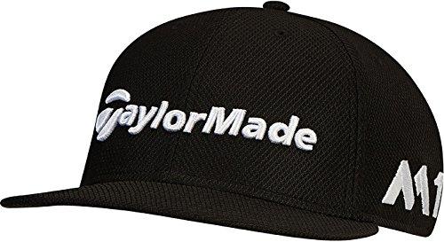TaylorMade 2017 New Era Tour 9Fifty P5 Flat Bill Hat Structured Mens Snapback Golf Cap Black