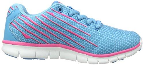 Gola Trojan, Chaussures Multisport Outdoor Fille Bleu (blue/pink)