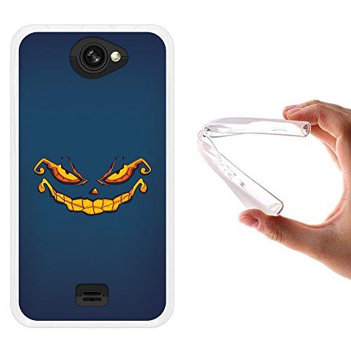 WoowCase MEO Smart A25 Hülle, Handyhülle Silikon für [ MEO Smart A25 ] Halloween Monster Handytasche Handy Cover Case Schutzhülle Flexible TPU - Transparent