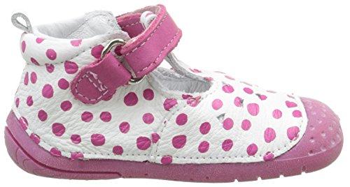 Babybotte Zumba2, Chaussures Bébé Rose (Blanc Pois Fuchsia 396)