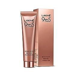 Lakme 9 to 5 Weightless Mousse Foundation, Beige Vanilla, 29 g