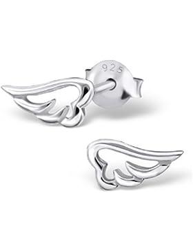 Laimons Damen-Ohrstecker Engels-Flügel Sterling Silber 925