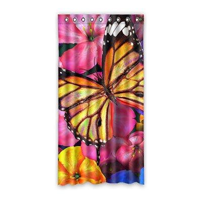 Dalliy fiori e farfalle colorate le tende tenda della finestra poliestere window curtain 50