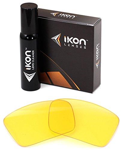 Polarisierte Ikon Ersatzgläser für Sonnenbrillen Costa Del Mar Permit - 11 Farben, Herren, HD Yellow, Einheitsgröße