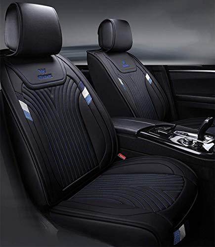 L.HPT Vier-Jahreszeiten-Ledersitzbezug, wasserdicht und rutschfest PU-Ledersitzbezug, kompatibel mit Airbags für die meisten Fünf-Sitzer-Autos,Blue - Sitzbezüge Auto Toyota Matrix