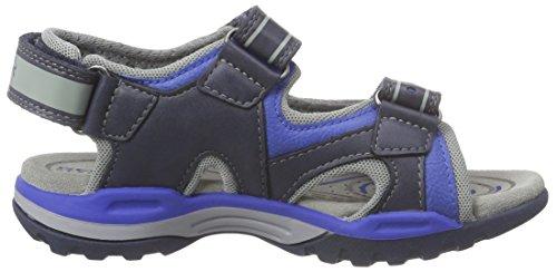 Geox J Borealis A, Sandales Bout Ouvert Garçon Bleu (C4226)