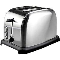 Tostadora de acero inoxidable, tostadora Tostadora automática de 2 piezas desayuno casero Máquina de pan