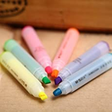 Confezione da 6 mini evidenziatori Stationery Island Mini Ninja (azzurro, arancione, giallo, rosa, viola e verde)