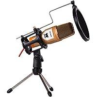 """Woxter Mic-Studio Studio microphone Wired Gold, Orange - Microphones (Studio microphone, -55 dB, 50 - 16000 Hz, Wired, 3.5 mm (1/8""""), 1.7 m) - Confronta prezzi"""