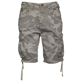 "Mens Firetrap Manawar Camo Cargo Shorts Olive Camo Guys Gents (30 Fit Waist 30"" (76cm))"