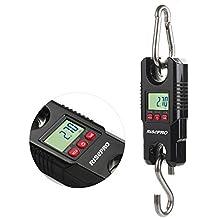 Bascula de gancho, bascula digital de RISEPRO® con grúa de bolsillo para equipaje de pesca, 300kg (WH-C300)