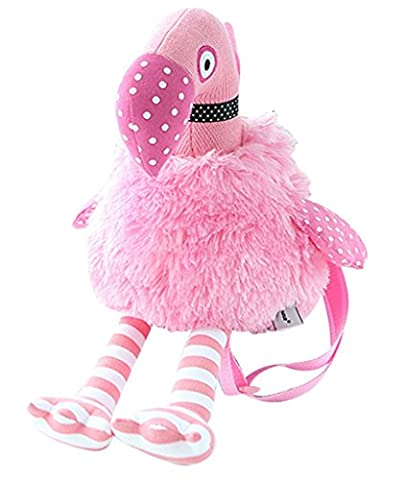 Drasawee Plush Stuffed Soft Furry Doll Cartoon Flamingos Special Child