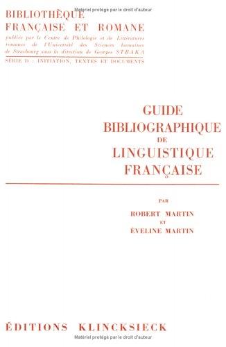 Guide bibliographique de linguistique française