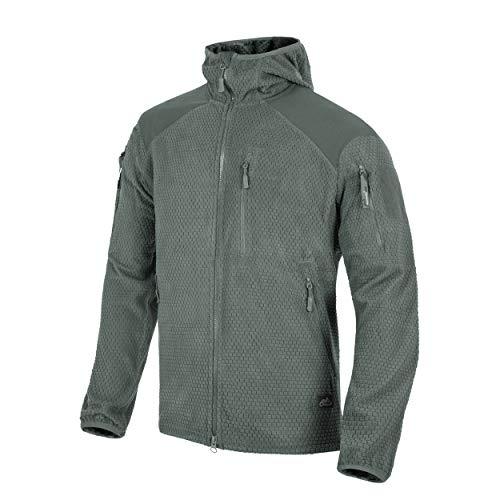 Helikon-Tex Alpha Hoodie Jacket leichte Fleece-Jacke Outdoor - Shadow Grey Hoodie Fleece Jacke