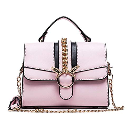 Nuanxin Chain Bag, Umhängetasche Small Square Bag, Wild Messenger Bag, Einfach, Pink, 20 * 15 * 8 cm U10