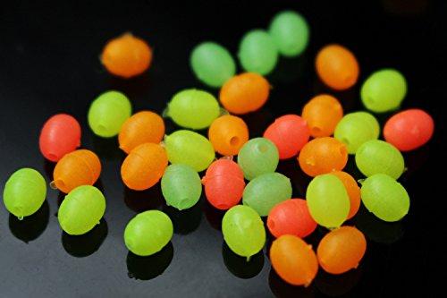 gemischte leuchtende ovale Plastikperlen, die im Dunklen leuchten, weiche, sinkende Schüttperlen, Zubehör, Fliegenbindematerial ()