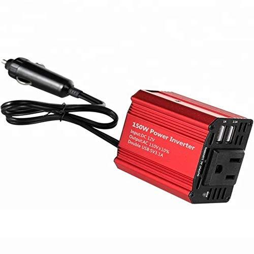 150w Power Inverter (DOLPHINEGG 150W Power Inverter DC 12V bis AC 220V Car Voltage Konverter Transformator Mit 2 USB Ports Car Charger)