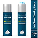 LetsShave Shave Foam - 200 g (Pack of 2)