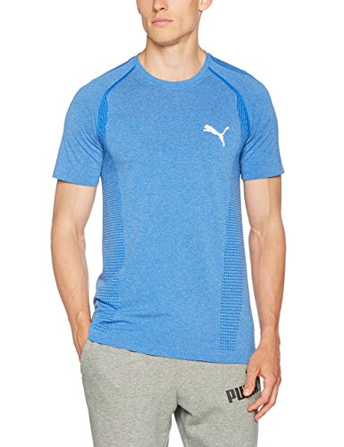 Puma Herren Evoknit Basic Tee T-Shirt, Lapis Blue Heather, L -