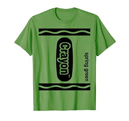 Hellgrün Zeichenstift Kasten Spring green Crayon Halloween T-Shirt