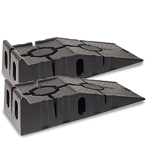 Heavy Duty 4 Ton Low Clearance Extra Wide Automotive Vehicle Service Ramps Pair