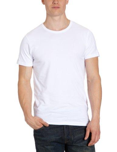 JACK & JONES Herren T-Shirt 12058529 Basic O-Neck Tee Weiß (OPTICAL WHITE C-N100)