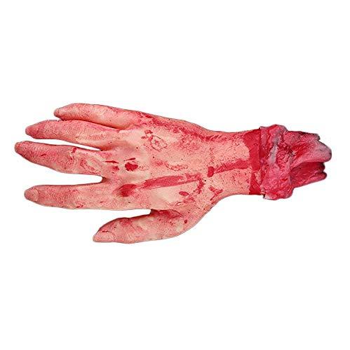 Uteruik Fake Latex Gory Human Arm Hand gruselig blutiges Blut Körper Teile für Halloween Maskerade Party Kleid Indoor Outdoor Garten Rep and Cosplay 1 Stück (L-#8) (Fake Halloween Hand)