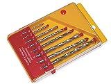 Heller 3-4-5-6-7-8-9-10MM - Set di punte per trapano da roccia, 8X