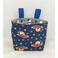 Lenkertasche/Laufradtasche/ Betttasche für Kinder aus Baumwollstoff und Wachstuch