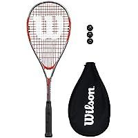 Wilson Impact Pro Squash Racket + 3 Squash Balls Options