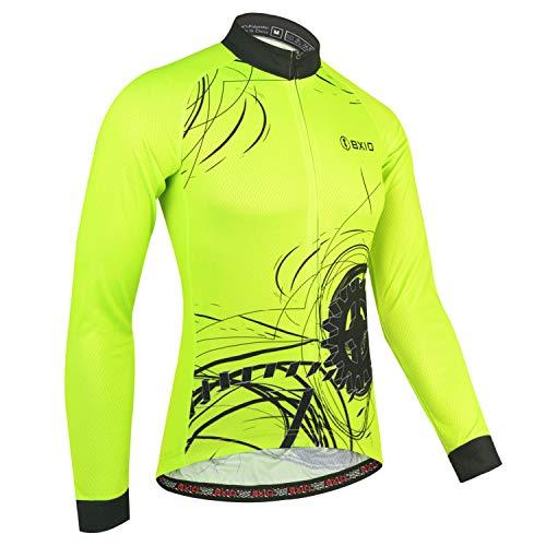 BXIO Herren Radtrikot, Langarm Radsportbekleidung Atmungsaktiv Maillot für den Outdoor Ra