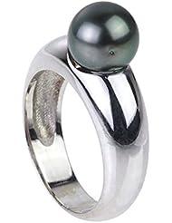 Pearls & Colors - Bague Solitaire - Argent 925 - Erternity - Perle de culture de Tahiti - PC-BAMT1