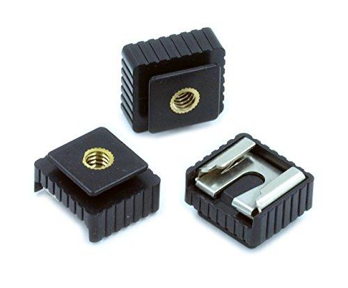 BlueBeach® 3 Stück Metall Kamerablitz Hot Shoe Heisser Schuh Halterung Adapter mit 1/4 zoll Schraube für Studio blitzlicht Blitzschuh Halter Stativ Stativhalterung