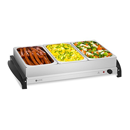 Royal Catering RCHP-400/3 Calienta platos Electrico Calentador Buffet (3 x 2 L,...