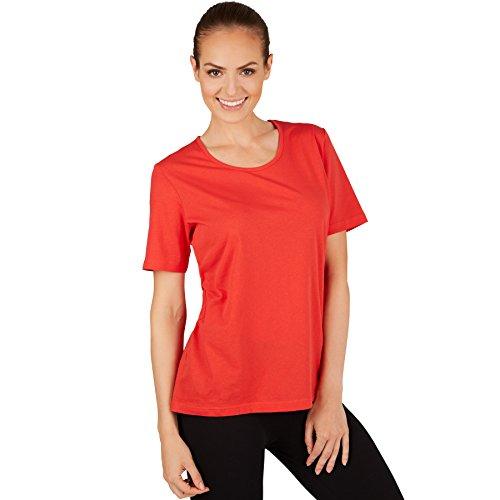 TecTake T-Shirt Pour Femme/Qualité Coton Lisse et Agréable/diverses Couleurs et Tailles XXL | Rouge | No. 301264