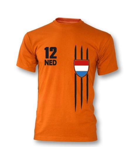 Luckja Herren T-Shirt WM 2014 Niederlande Holland Fanshirt Trikot
