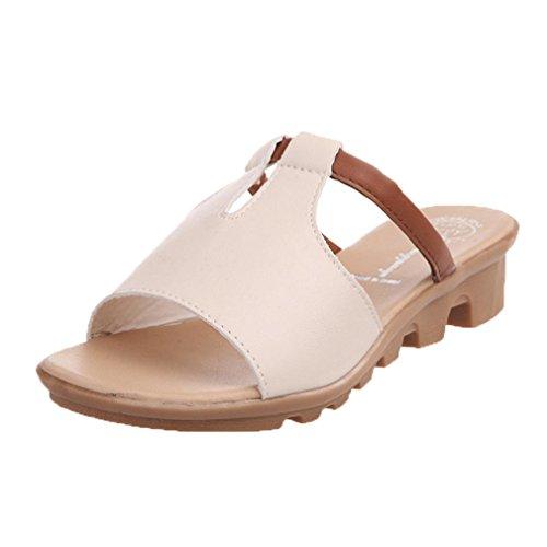 Sapatos Sandálias Saingace Verão Da Bege De Praia Chinelos Lâminas Femininos Moda 7wOxw4zn