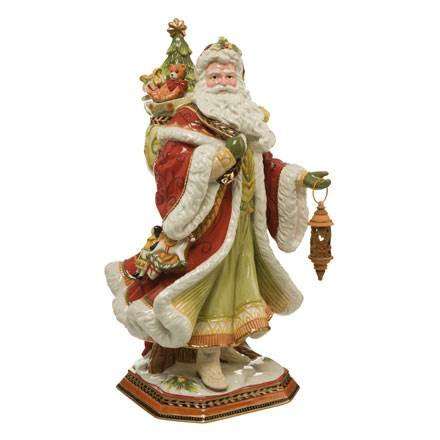 Goebel Fitz and Floyd FF S Santa mit Laterne 49,5 Bunt -