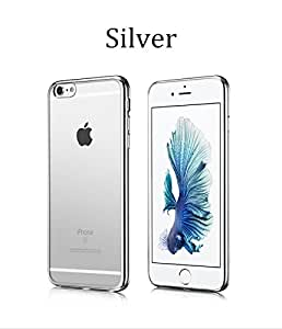 Apple iphone 6\6s Soft transparent back cover Silver
