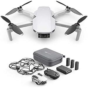 DJI Mavic Mini Combo - Ultralight and Portable Drone, 30 min. Flight Time, Transmission 2 Km, 3-Axis Gimbal, 12MP, Video HD 2, 7K, 3 Batteries, Remote Controller, Intelligent Flight Battery