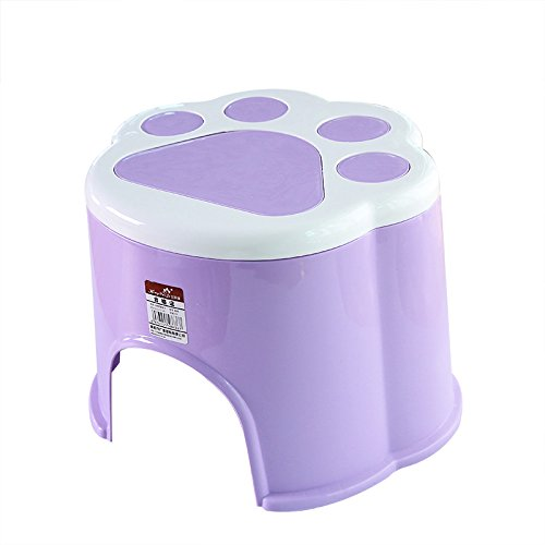 Dana Carrie Le pied en plastique anti-dérapant accueil tabouret tabouret rond d'épaisseur à d'autres bancs de chaussures pour enfants bain mise en œuvre de la marche pied du bébé sur un tabouret bas, 24*21,5*20cm 5PCS violet