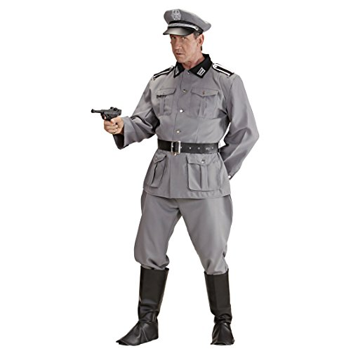 Herrenkostüm Deutscher Soldat L 52 Militär Uniform General Historisches Soldatenkostüm Offizier Armee Outfit Männer 2. Weltkrieg Verkleidung (Deutscher Offizier Hut Kostüm)