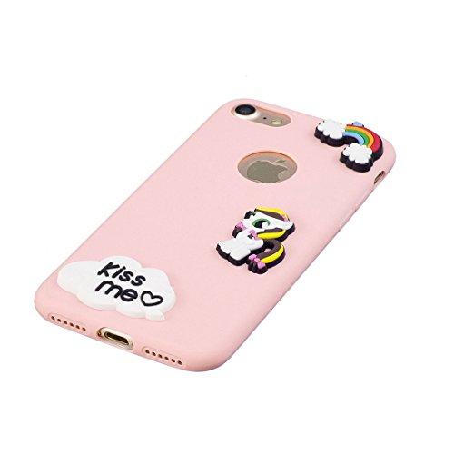 iPhone 7 Plus Custodia, Nuovo di zecca - ( Girasole Flower ) - Copertura in gel di TPU per iPhone 7 Plus Copertura 5.5 [Design esclusivo, stampa ad alta definizione] rosa