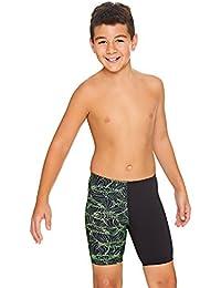 Zoggs Sharkonator Mid Jammer - Bañador para niño, Niños, 602318024, Verde y Negro, 8-9 años