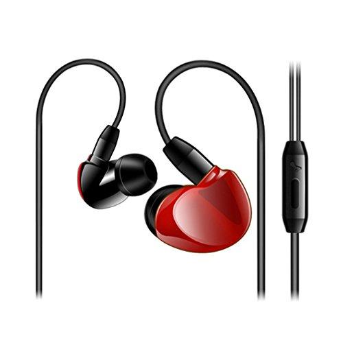 Headsets,Tonsee 3.5mm Super Bass Stereo In-Ear Ohrhörer Kopfhörer für iPhone Android,Rot