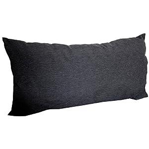 Beo Rückenkissen Zierkissen Querstreifen Struktur dunkelgrau für Lounge Gruppen ca. 60 x 40 cm