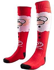 Navidad Santa calcetines, unisex, color Rojo - rosso, tamaño Junior Size 3-6